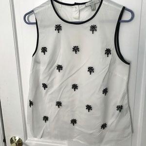JCrew sleeveless embellished top